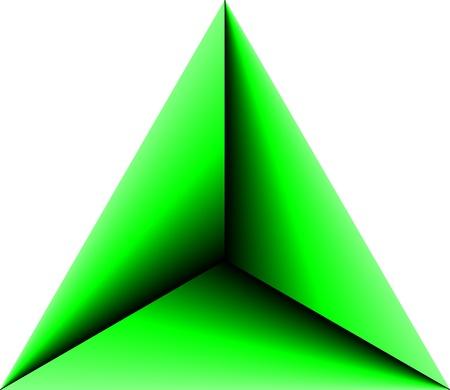 삼각형: 추상 삼각형 녹색