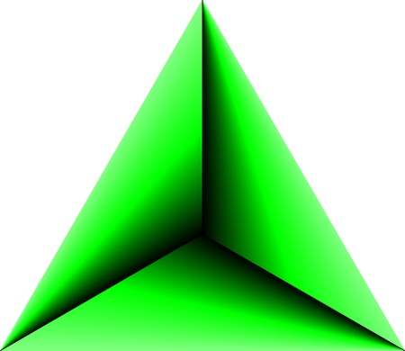 Abstract Triangle Green Vector