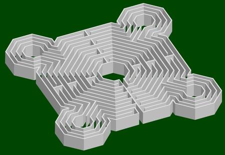 maze fortress 3D Vector