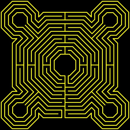 maze fortress Vector