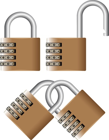 deny: padlock with password Illustration