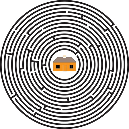 maze ellipse house Vector