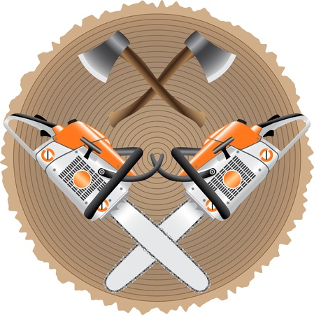 saw blade: lumberjack