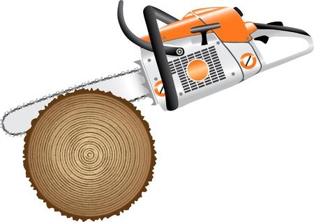 het snijden van bomen Stock Illustratie