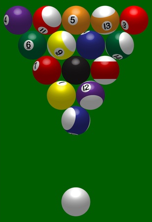 cue ball: billiard ball