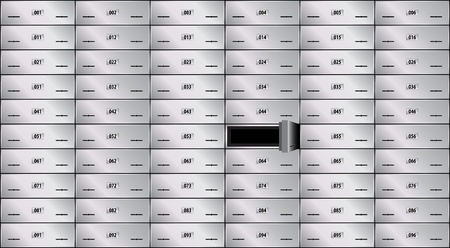 key cabinet: safe deposit box