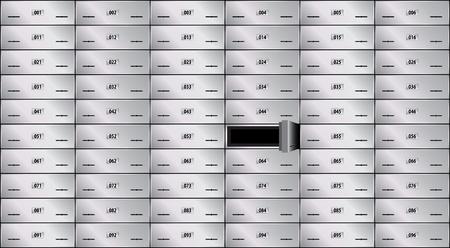 safe deposit box: safe deposit box