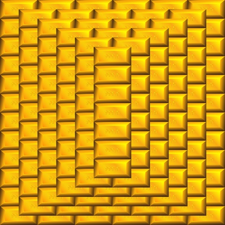 gold bars pyramid Vector