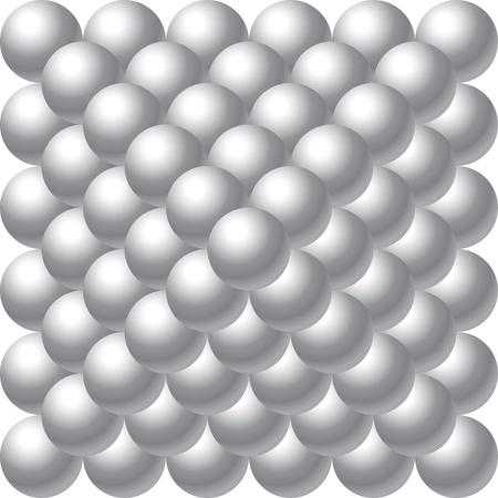 metal balls pyramid Illustration