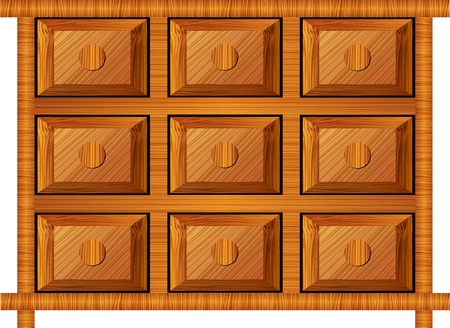 wooden cabinet for small items Stock Vector - 11448437