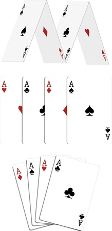 poker aces Vector