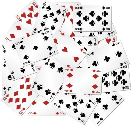 cartas de poker: mixtos jugando a las cartas