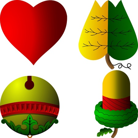 Hungarian cards symbols Vector