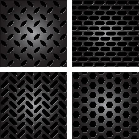 riveted metal: metal patterns Illustration