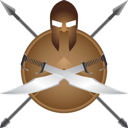 spear: Spartan symbol