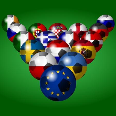 Euro 2012  football ball