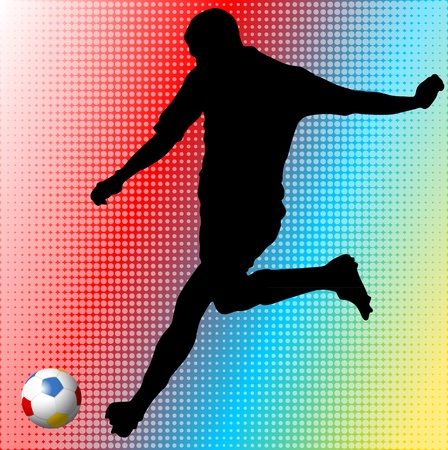 Euro 2012 football player Vector