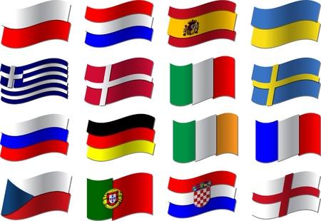 uefa: Euro 2012 football flags