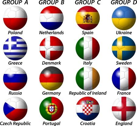 Euro 2012 Group Light Stock Vector - 12177610