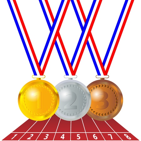 sports competition medals Stock Vector - 12479761
