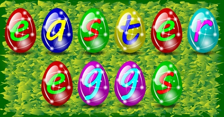 Easter eggs with letters Stock Vector - 12479778