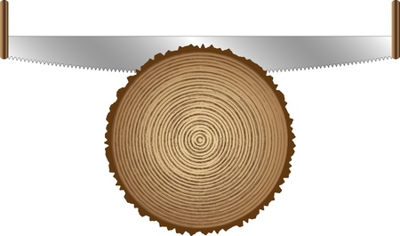old saws for cutting trees Vector
