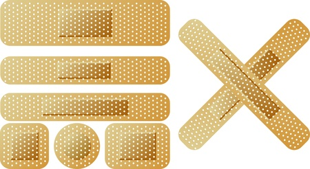 adhesive tape: sticking plaster