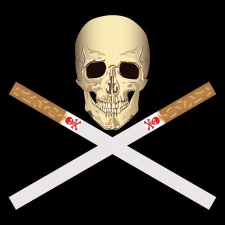 harmful: smoking is harmful to health Illustration
