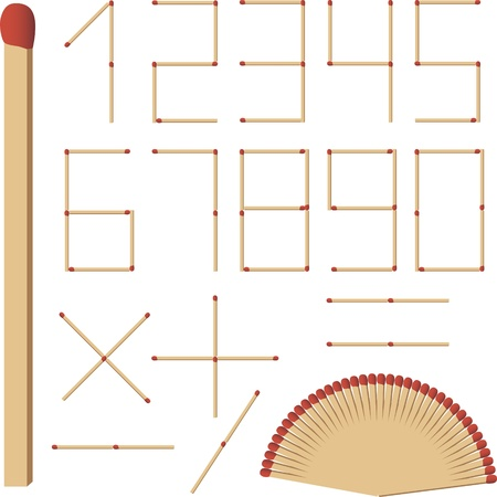 The numbers of matches Stock Vector - 12799098