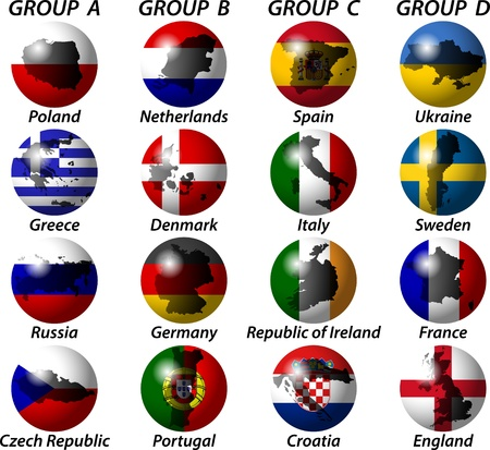 groups and the state flag Stock Vector - 12799103