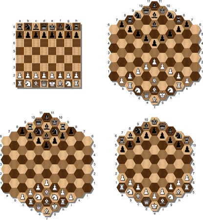various chess table Vector