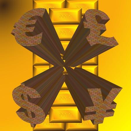 monetary gold surface Stock Vector - 13164338