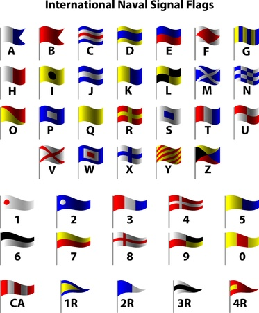 International Naval Signal Flags Stock Vector - 13164337