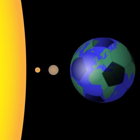 planet football Vector