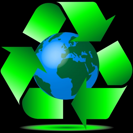 recycling the planet Stock Vector - 13876149