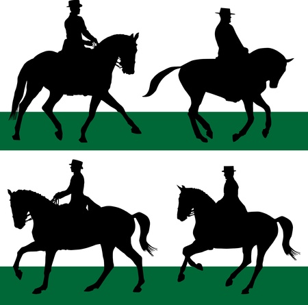 comp�titivit�: le sport �questre de chevaux de dressage