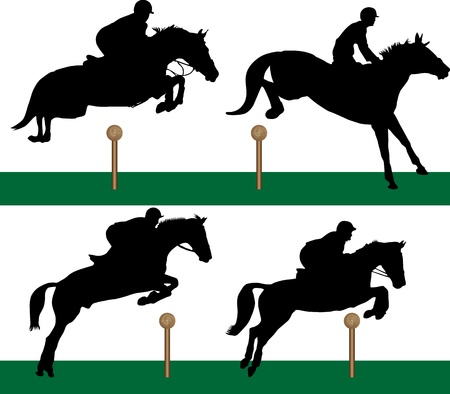 Equestrian - Jumping Vector
