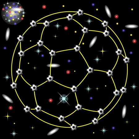 constellation of football Stock Vector - 13995705