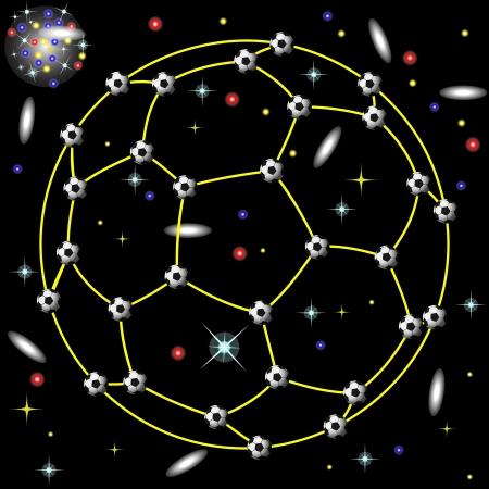 nightime: constellation of football Illustration