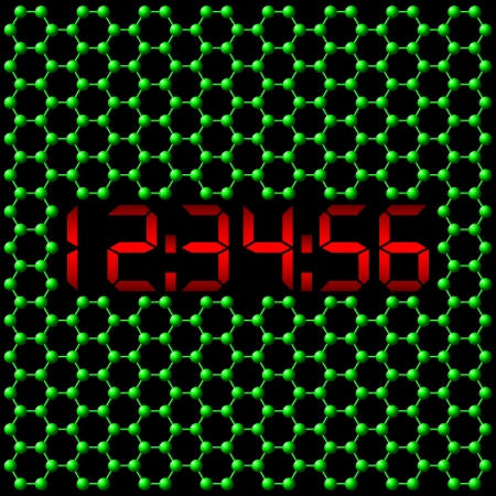 Atomic digital clock Stock Vector - 14192936