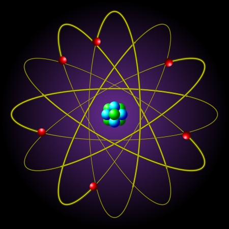 The symbol of the atom Stock Vector - 14192942