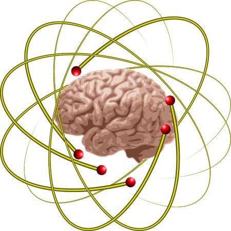 atomique: sp�cialistes du cerveau Illustration
