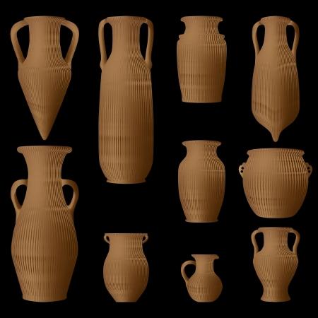 Ancient Greek amphora Vector