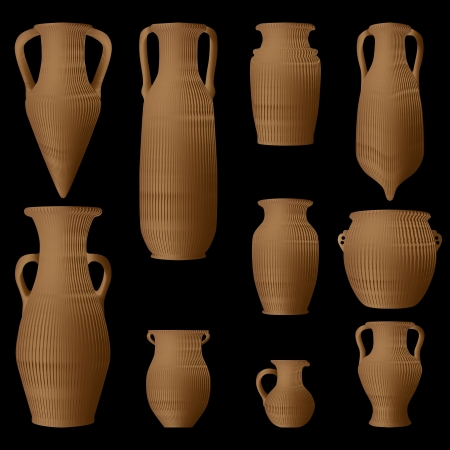 Ancient Greek amphora Stock Vector - 14341602