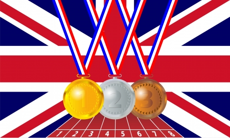 Olympic medals from the British flag Vector