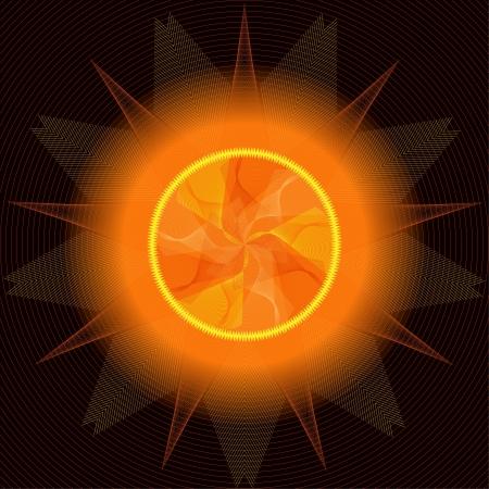 Sun abstract Stock Vector - 14627991