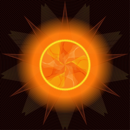 Sun abstract Stock Vector - 14627991