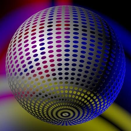 abstract disco ball Vector