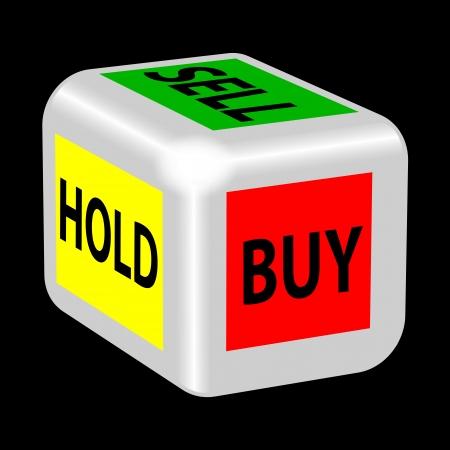 owe: buy, sell, hold gambling Illustration