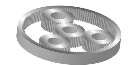 cylindrical gear Vector